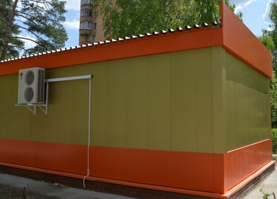 036a4b109026 Сварные и сборно-разборные модульные павильоны из сэндвич-панелей. Подходят  для киосков и небольших магазинов – общей площадью от 10 до 100 кв. м.